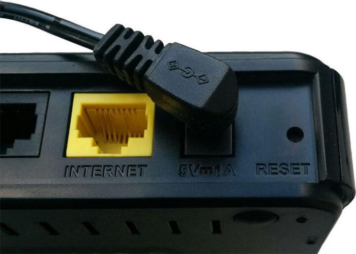 Сброс параметров через кнопку «Reset»