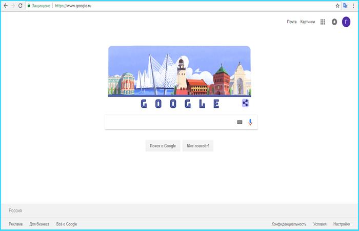 Заходим на страницу Google