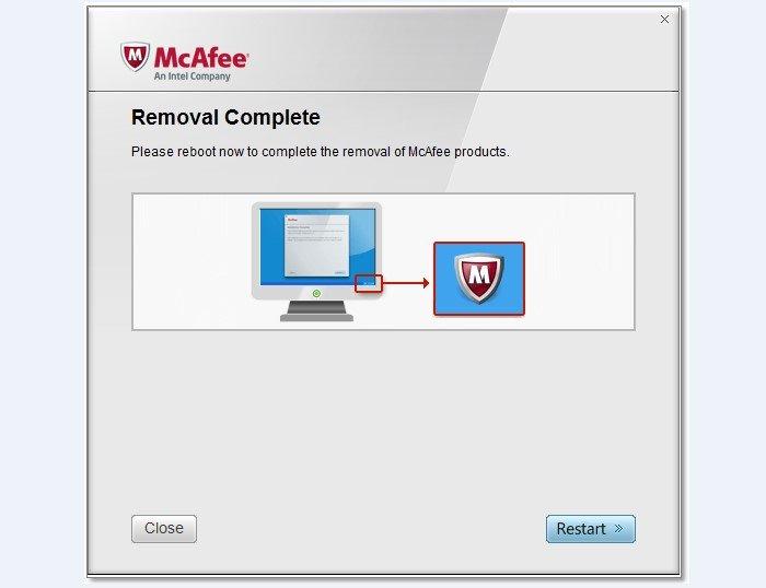 Для завершения процедуры удаления перезагружаем компьютер, нажав «Restart»